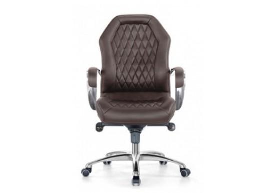 Кресло руководитея низкая спинка Бюрократ c низкой спинкой Aura-Low brown