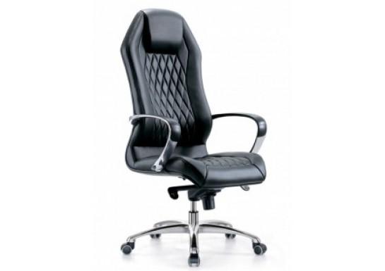 Кресло руководителя Бюрократ Aura Black, кожа