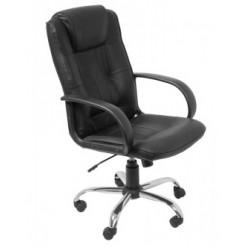Кресло руководителя Бюрократ T-800AXSN, черный, кожа