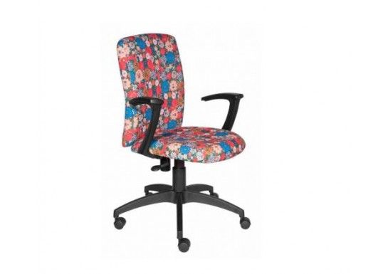 Кресло для персонала Бюрократ CH-470AXSN/Flower красный
