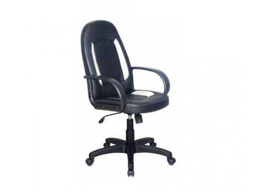 Кресло руководителя Бюрократ CH-826 черный искусс.к.