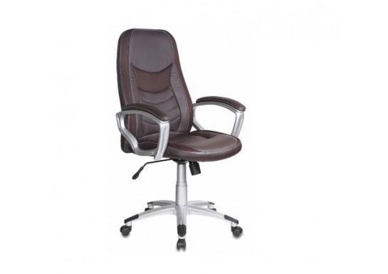 Кресло руководителя Бюрократ T-9910 BROWN, пластик