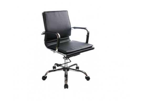 Кресло руководителя Бюрократ CH-993-Low Black низ.спинка, иск. кожа