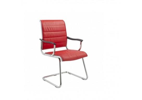 Кресло Бюрократ CH-994AV Red, иск. кожа, полозья