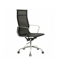 Кресло руководителя Бюрократ CH-996 black, сетка, хром