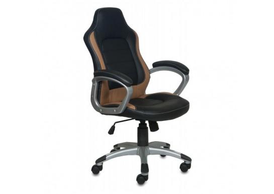 Кресло Бюрократ CH-825S Black Bg, иск. кожа, пластик серебро