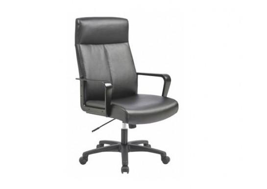 Кресло руководителя Бюрократ T-900, черный, кожа