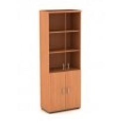 Шкаф книжный со стеклом в рамке 800*450*1945