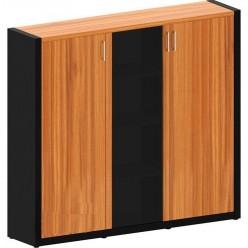 Шкаф со стеклом и гардеробом 1816x400x1620