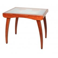 Стол с вкладной стеклянной столешницей 780*760*900/1800