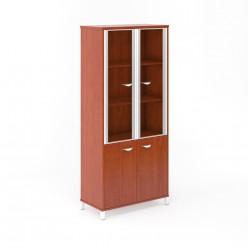 Шкаф для бумаг со стеклом 90*45*200