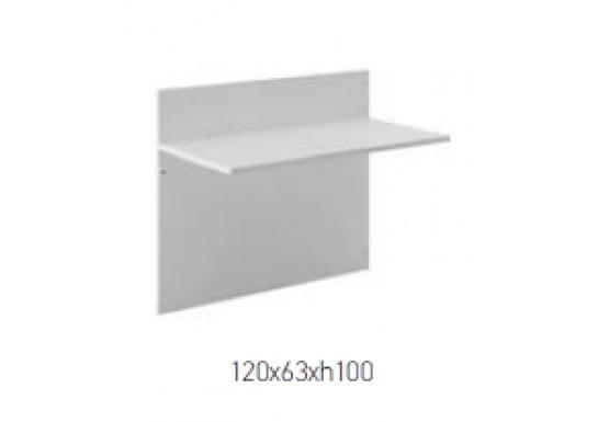 Элемент ресепшн, цв. белый, 120x63x100