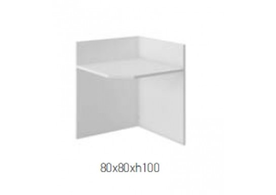 Элемент ресепшн 90 гр, цв. белый,  80x80x100