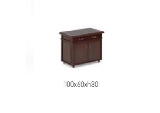 Приставка подкатная, цв. т. орех, 100x60x80