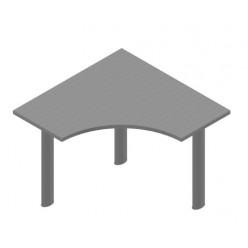 Стол эргономичный, цв. металлик,  450*450*1000