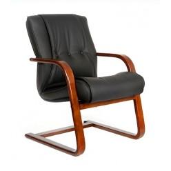 Кресло для посетителя Chairman  653V натуральная кожа