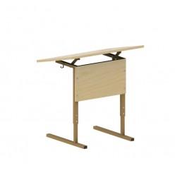 Стол школьника, 1м, гр.2-4 накл.стол.,закр.углы, 704*504*527-647