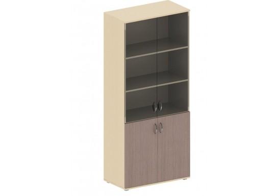 Шкаф для книг, цв. дуб онтарио и беж, 1947х800х442