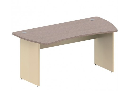 Стол эргономичный, цв. дуб онтарио и беж, 1600x800x744 мм