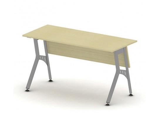 Стол письменный на металлокаркасе, цв. клен,