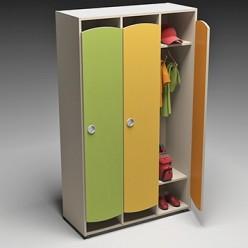 Шкаф для раздевалок 1485х598х351