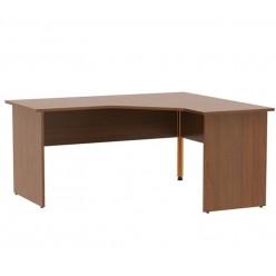 Стол угловой, правый, цв.орех, 1600x1400x750 мм