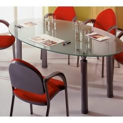 Стол для заседаний 738х1990х1100 (стекло 12 мм)