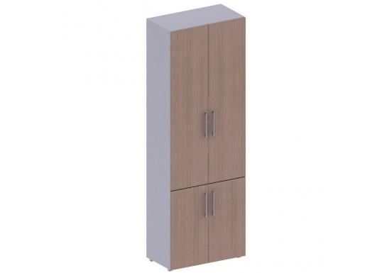 Шкаф высокий, бухгалтерский, цв. дуб онтарио, 2331*442*800