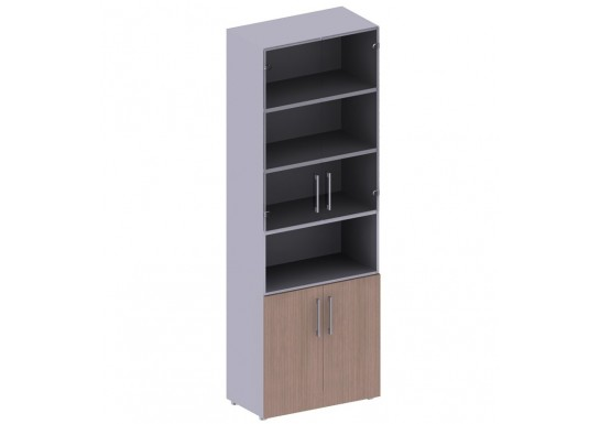 Книжный шкаф, цв. дуб онтарио, 2331*442*800