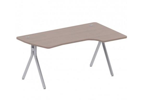 Стол эргономичный,цв. дуб онтарио, 1600x100x744 мм