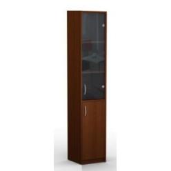 Шкаф узкий высокий со стеклом 385*385*1945