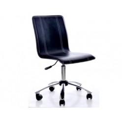 Кресло EChair-210 PPU- 802, к/з черный, хром