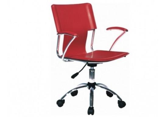 Кресло EChair-211 PPU-801, к/з красный