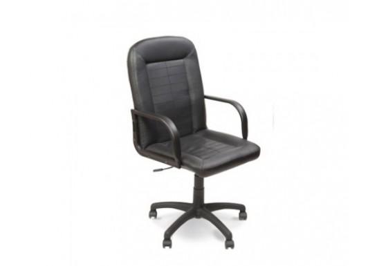 Кресло руководителя EChair  EC Mustang кожа черная SP-A