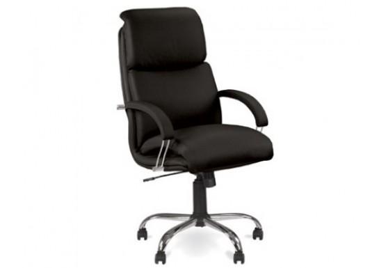 Кресло руководителя EChair  EC Nadir Steel Chr кожа