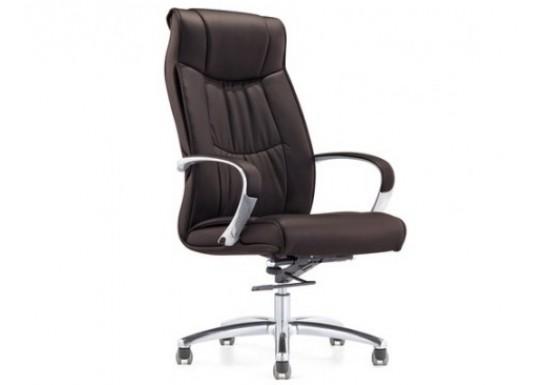 Кресло руководителя Echair-534 TL кожа, коричневый