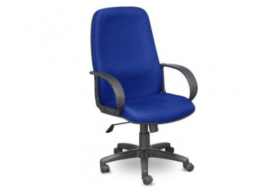 Кресло EChair-625 TJP ткань сине-черная, пластик