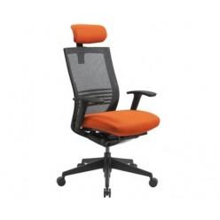 Кресло руководителя EChair TICENS-E-2 ткань оранж
