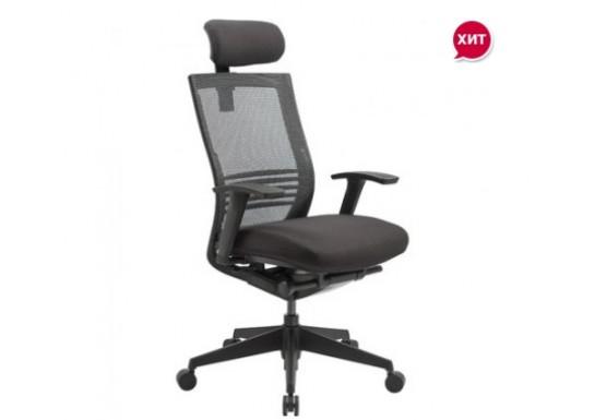 Кресло руководителя EChair TICENS-E-2 ткань синяя