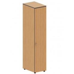 Шкаф закрытый узкий, цв. клён, 40х40х191