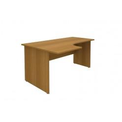 Стол-интеграл левый, цв. орех, 160×110×75