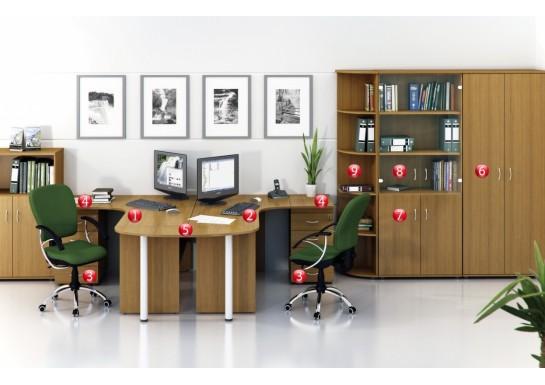 Набор мебели номер два, цв. орех,