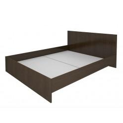 Кровать двуспальная, цв. венге, 162.4х203.2х81.5