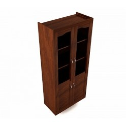 Шкаф для документов со стеклянными дверцами 90Х45Х200