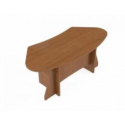 Стол руководителя, цв. орех, 2100*1000*740