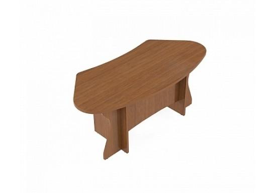 Стол руководителя письменный, цв. орех,180×84×74