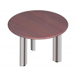 Стол круглый, цв. махагон, 115х76