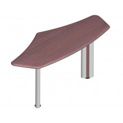 Приставка к столу, цв. махагон, 179х73х76