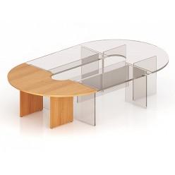 Стол для заседаний, цв. бук, 1000х2000х768 (угловая секция)