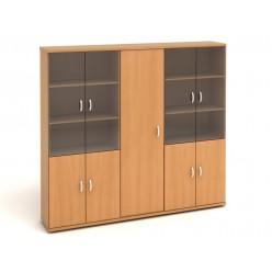 Шкаф высокий, цв. бук, 2254*424*2066